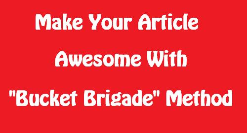 bucket brigade method
